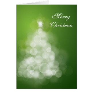 Cartão Sparkling da árvore de Natal