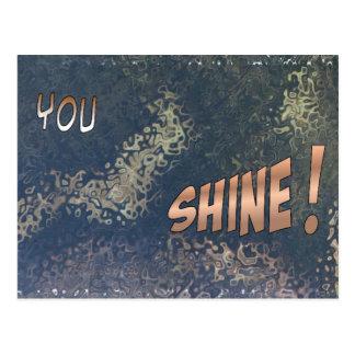 Cartão Sparkling da imagem da boa Cartão Postal