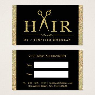 Cartão Sparkling da nomeação do cabeleireiro do