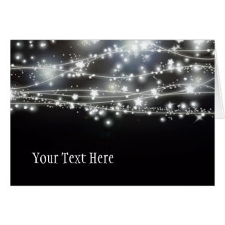Cartão Sparkling das estrelas