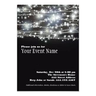 Cartão Sparkling do convite da celebração do
