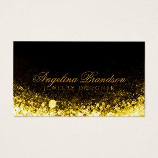 Cartão Sparkling do preto do desenhista da jóia do