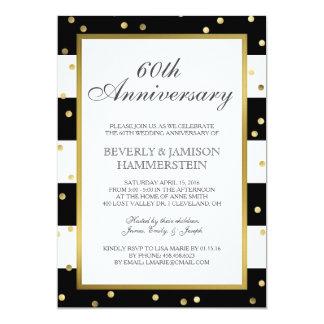 Cartão Sparkling listra festa de aniversário do casamento