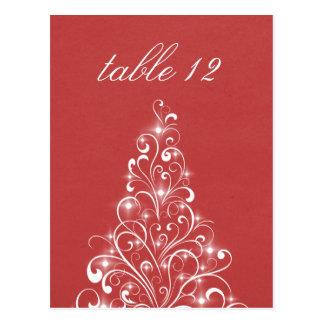Cartão Sparkly da mesa da árvore do feriado,