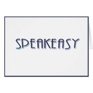 Cartão SpeakEasy