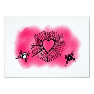 Cartão spiderweb Coração-dado forma
