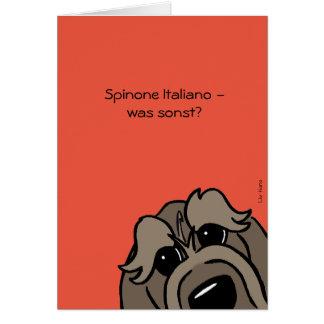 Cartão Spinone Italiano - que por outro lado?