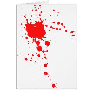 Cartão Splatter do sangue