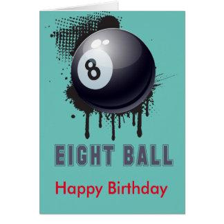 Cartão Splotch abstrato da tinta com bola e TEXTO de