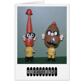 Cartão Sr. Batata Cabeça