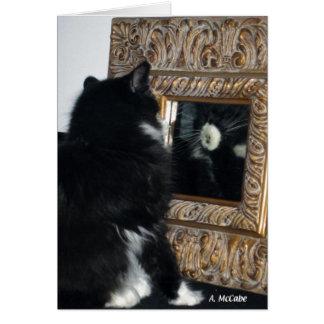 Cartão Sr. Bootee, através do espelho