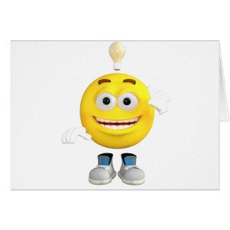 Cartão Sr. Brainy que o Emoji esse ama pensar