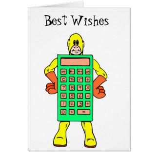 Cartão Sr. Calculatoir Homem da reunião