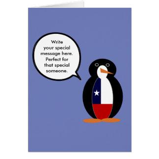 Cartão Sr. de fala chileno Pinguim