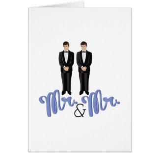 Cartão Sr. de Mr.&