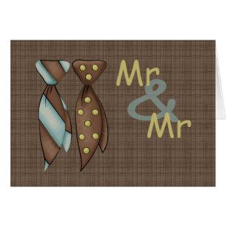 Cartão Sr. e Sr., dois noivos que Wedding