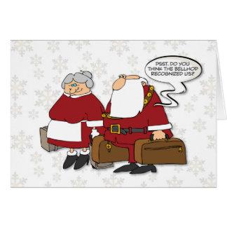 Cartão Sr. e Sra. Claus Ir ao Natal engraçado de Cancun