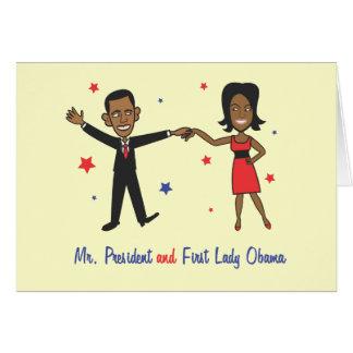 Cartão Sr. presidente e primeira senhora Obama