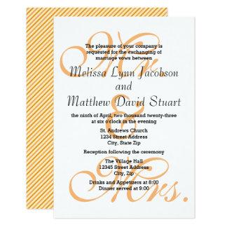 Cartão Sr. & Sra. Pêssego - o casamento 3x5 & a recepção