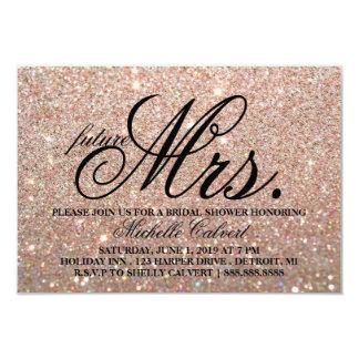 Cartão Sra. do futuro de BridalShower do brilho do ouro