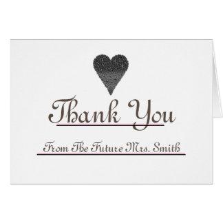 Cartão Sra. futura Agradecimento você nota vermelha do