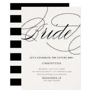 Cartão Sra. futura chá de panela da noiva moderna