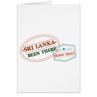 Cartão Sri Lanka feito lá isso