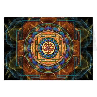 Cartão Sri Yantra - geometria sagrado
