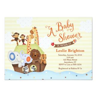 Cartão SS Noah/convite do chá de fraldas arca de Noah