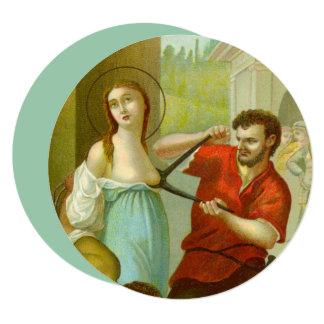 """Cartão St. Agatha (M 003) 5,25"""" x 5,25"""" circular"""