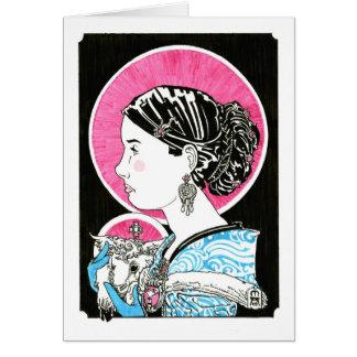 Cartão St. Agnes de Roma Notecard