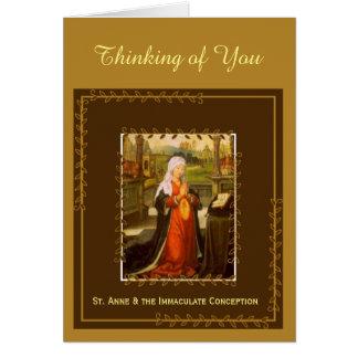 Cartão St Anne & concepção imaculada Mary