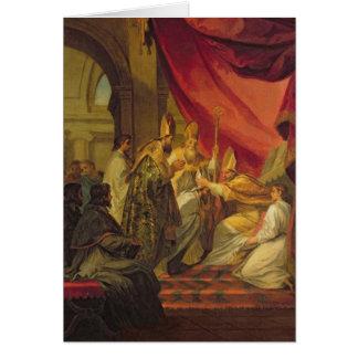 Cartão St Augustine ordenou como o Bishop