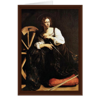 Cartão St. Catherine de Alexandria por Michelangelo