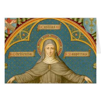 Cartão St. Clare de Assisi & rolos dos votos (SAU 027)
