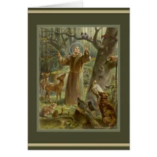 Cartão St Francis da oração de Assisi para dentro