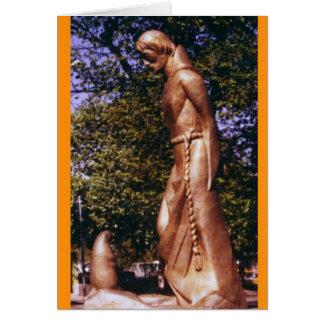 Cartão St Francis e o cão de pradaria