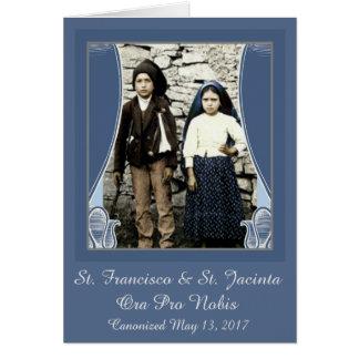 Cartão St. Francisco & St. Jacinta canonizada