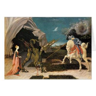 Cartão St George, dragão e princesa