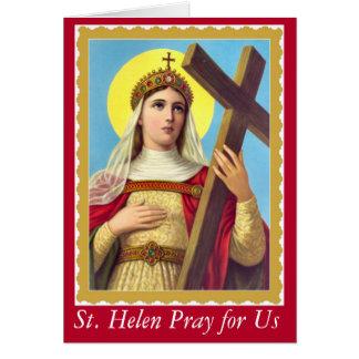 Cartão St. Helen da cruz verdadeira