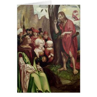 Cartão St John o baptista que Preaching antes de Herod