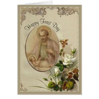 Cartão St Joseph banquete dia o 19 de março
