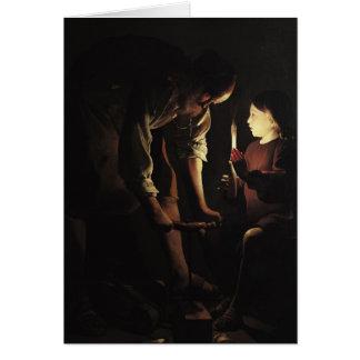 Cartão St Joseph, carpinteiro, c.1640