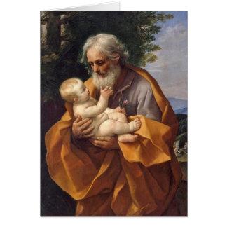 Cartão St Joseph com criança mim