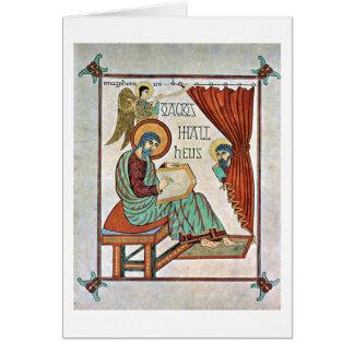 Cartão St Matthew pelo mestre do livro de Lindisfarne