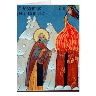 Cartão St. Maximus o queimador da cabana