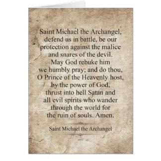 Cartão St Michael o arcanjo