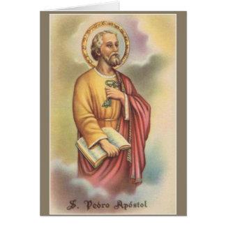 Cartão St Peter o primeiro papa do apóstolo