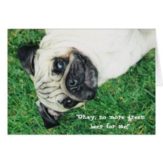 Cartão St. Pug do dia do rissol