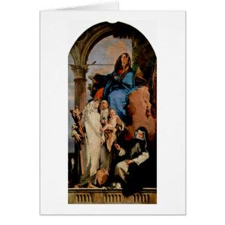 Cartão St.Rosa mantem a criança por Giovanni Battista